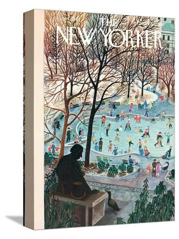 The New Yorker Cover - February 4, 1961-Ilonka Karasz-Stretched Canvas Print