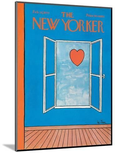 The New Yorker Cover - February 14, 1970-Pierre LeTan-Mounted Premium Giclee Print