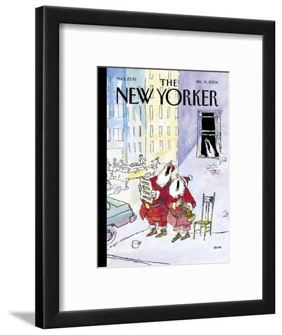 The New Yorker Cover - December 13, 2004-George Booth-Framed Art Print