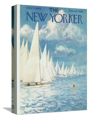 The New Yorker Cover - June 13, 1959-Arthur Getz-Stretched Canvas Print