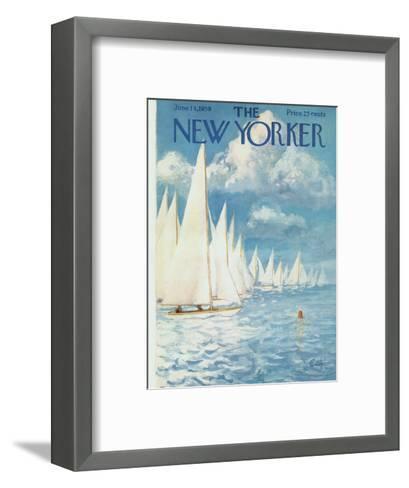 The New Yorker Cover - June 13, 1959-Arthur Getz-Framed Art Print