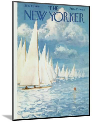 The New Yorker Cover - June 13, 1959-Arthur Getz-Mounted Premium Giclee Print