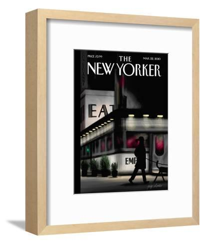 The New Yorker Cover - March 22, 2010-Jorge Colombo-Framed Art Print