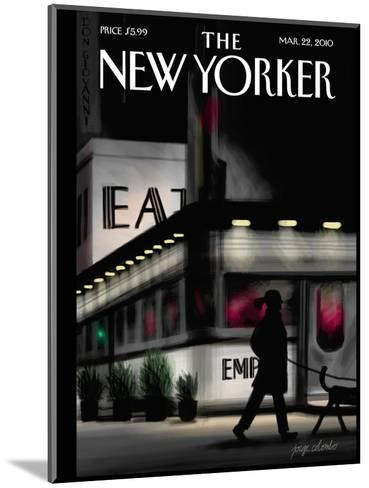 The New Yorker Cover - March 22, 2010-Jorge Colombo-Mounted Premium Giclee Print