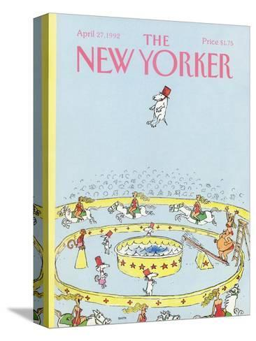 The New Yorker Cover - April 27, 1992-George Booth-Stretched Canvas Print
