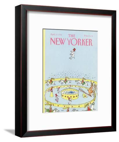 The New Yorker Cover - April 27, 1992-George Booth-Framed Art Print