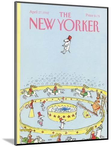 The New Yorker Cover - April 27, 1992-George Booth-Mounted Premium Giclee Print
