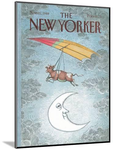 The New Yorker Cover - November 21, 1988-John O'brien-Mounted Premium Giclee Print