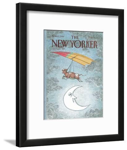 The New Yorker Cover - November 21, 1988-John O'brien-Framed Art Print