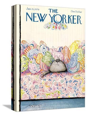 The New Yorker Cover - January 15, 1979-Ronald Searle-Stretched Canvas Print