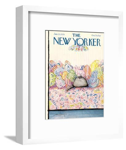 The New Yorker Cover - January 15, 1979-Ronald Searle-Framed Art Print