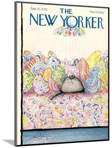 The New Yorker Cover - January 15, 1979-Ronald Searle-Mounted Premium Giclee Print