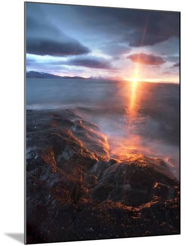 Midnight Sun over Vågsfjorden, Skånland, Troms County, Norway-Stocktrek Images-Mounted Photographic Print