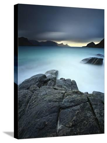 A Long Exposure Scene at Haukland Beach in Lofoten, Norway-Stocktrek Images-Stretched Canvas Print