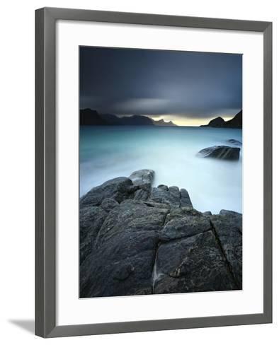 A Long Exposure Scene at Haukland Beach in Lofoten, Norway-Stocktrek Images-Framed Art Print