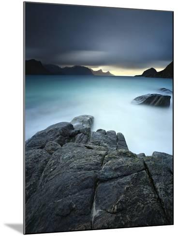 A Long Exposure Scene at Haukland Beach in Lofoten, Norway-Stocktrek Images-Mounted Photographic Print