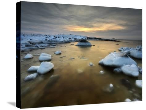 A Frozen, Rusty Bay on Andoya Island in Nordland County, Norway-Stocktrek Images-Stretched Canvas Print
