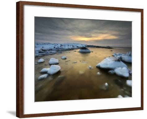 A Frozen, Rusty Bay on Andoya Island in Nordland County, Norway-Stocktrek Images-Framed Art Print