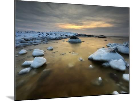 A Frozen, Rusty Bay on Andoya Island in Nordland County, Norway-Stocktrek Images-Mounted Photographic Print
