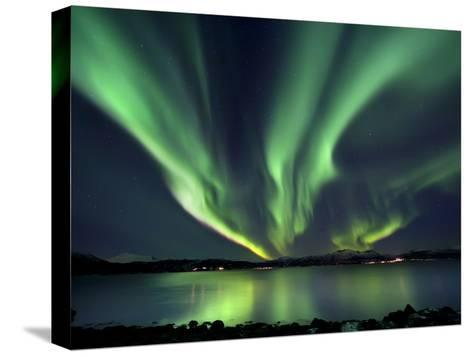 Aurora Borealis over Tjeldsundet in Troms County, Norway-Stocktrek Images-Stretched Canvas Print