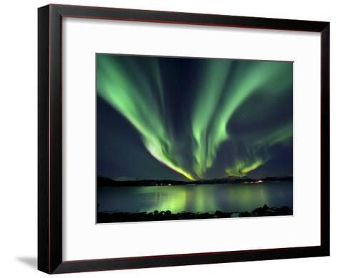 Aurora Borealis over Tjeldsundet in Troms County, Norway-Stocktrek Images-Framed Art Print