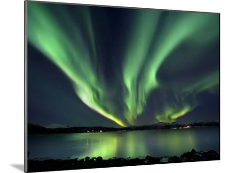 Aurora Borealis over Tjeldsundet in Troms County, Norway-Stocktrek Images-Mounted Photographic Print
