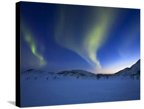 Aurora Borealis over Skittendalen Valley in Troms County, Norway-Stocktrek Images-Stretched Canvas Print