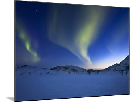 Aurora Borealis over Skittendalen Valley in Troms County, Norway-Stocktrek Images-Mounted Photographic Print