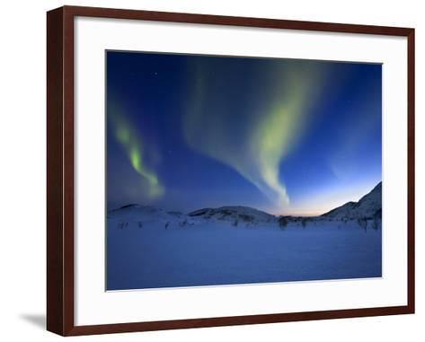 Aurora Borealis over Skittendalen Valley in Troms County, Norway-Stocktrek Images-Framed Art Print