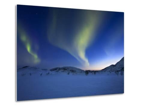 Aurora Borealis over Skittendalen Valley in Troms County, Norway-Stocktrek Images-Metal Print