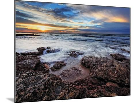 A Seascape at Sunrise from Miramar, Argentina-Stocktrek Images-Mounted Photographic Print