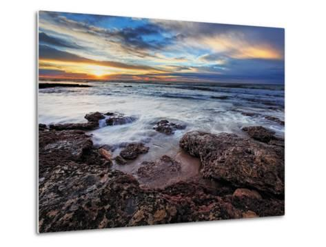 A Seascape at Sunrise from Miramar, Argentina-Stocktrek Images-Metal Print