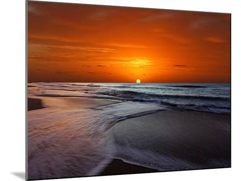 Two Crossing Waves at Sunrise in Miramar, Argentina-Stocktrek Images-Mounted Photographic Print