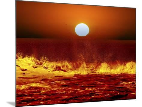 The Sun and Ocean Waves in Miramar, Argentina-Stocktrek Images-Mounted Photographic Print