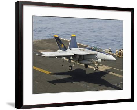 An F/A-18E Super Hornet Trap Landing on the Flight Deck of USS Harry S. Truman-Stocktrek Images-Framed Art Print