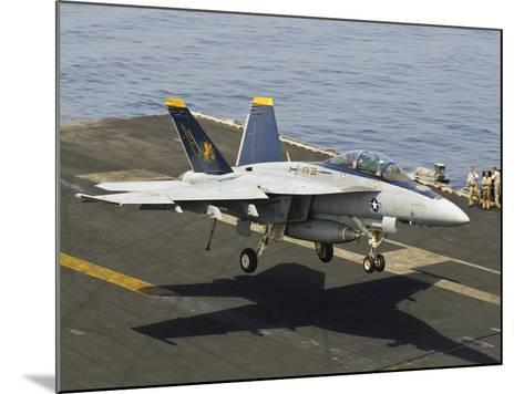 An F/A-18E Super Hornet Trap Landing on the Flight Deck of USS Harry S. Truman-Stocktrek Images-Mounted Photographic Print