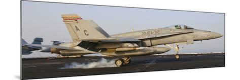 An F/A-18 Hornet Lands Aboard USS Harry S. Truman-Stocktrek Images-Mounted Photographic Print