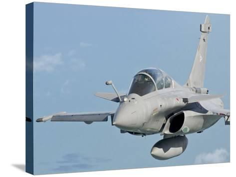 A Rafale B of the French Air Force in Flight over Brazil-Stocktrek Images-Stretched Canvas Print