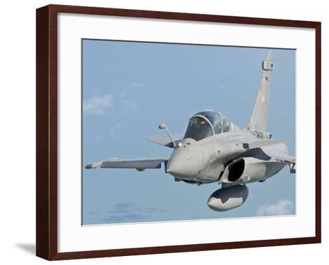 A Rafale B of the French Air Force in Flight over Brazil-Stocktrek Images-Framed Art Print