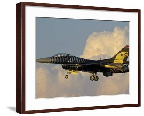 A Solo Turk F-16 of the Turkish Air Force with a Custom Paint Scheme-Stocktrek Images-Framed Art Print