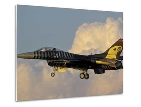 A Solo Turk F-16 of the Turkish Air Force with a Custom Paint Scheme-Stocktrek Images-Metal Print