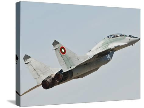 A Mig-29 of the Bulgarian Air Force-Stocktrek Images-Stretched Canvas Print