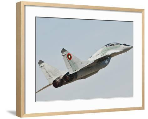 A Mig-29 of the Bulgarian Air Force-Stocktrek Images-Framed Art Print