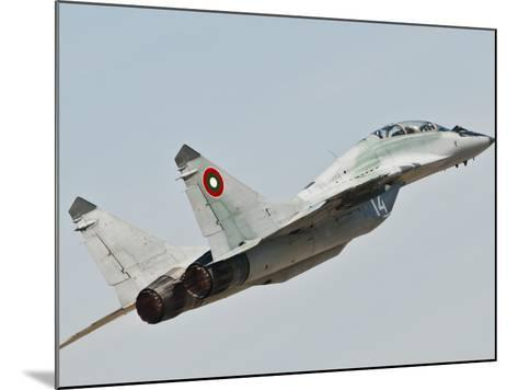 A Mig-29 of the Bulgarian Air Force-Stocktrek Images-Mounted Photographic Print