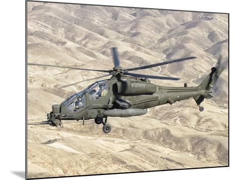 An Italian Army AW-129 Mangusta over Afghanistan-Stocktrek Images-Mounted Photographic Print