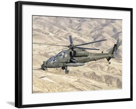 An Italian Army AW-129 Mangusta over Afghanistan-Stocktrek Images-Framed Art Print