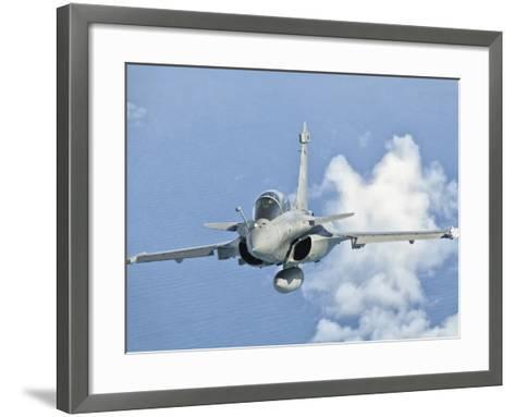 A Dassault Rafale of the French Air Force in Flight over Brazil-Stocktrek Images-Framed Art Print