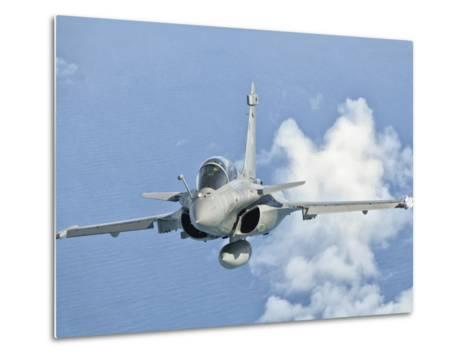 A Dassault Rafale of the French Air Force in Flight over Brazil-Stocktrek Images-Metal Print