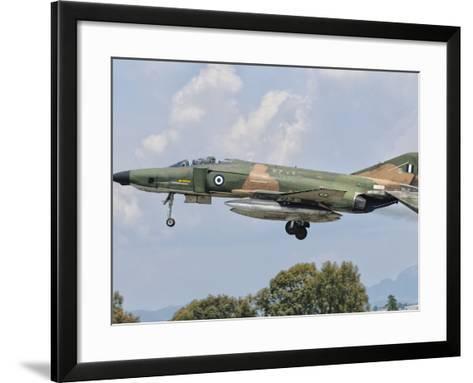 An F-4 Phantom of the Hellenic Air Force-Stocktrek Images-Framed Art Print
