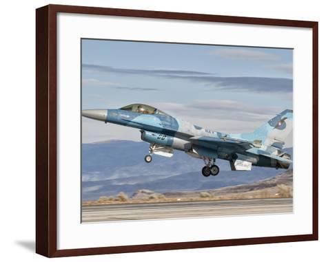 An F-16A Fighting Falcon of the Famous US Navy Topgun Naval Fighter Weapons School-Stocktrek Images-Framed Art Print